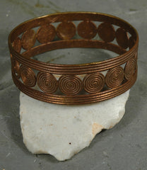 Fair Trade Camerounian Brass Disc Bracelet