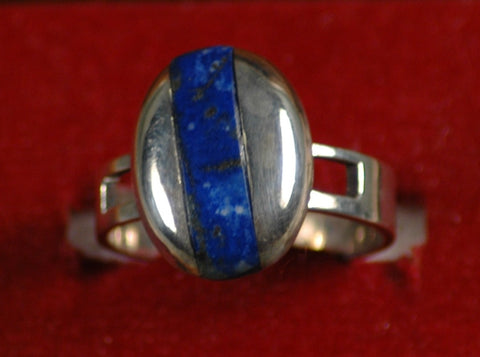 Fair Trade Chilean Lapis Oval Ring