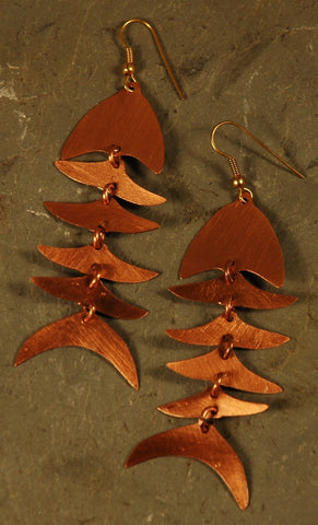 Fair Trade Copper Bombolulu Fish Earrings