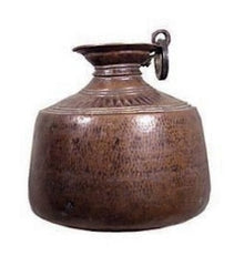 Antique Copper Indian Dowry Pot