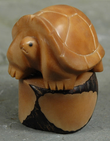 Fair Trade Ecuadorean Tagua Tortoise Figurine