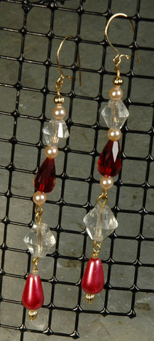 Crystal & Glass Pearl Earrings