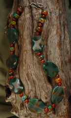 Agate & Glass Bead Necklace