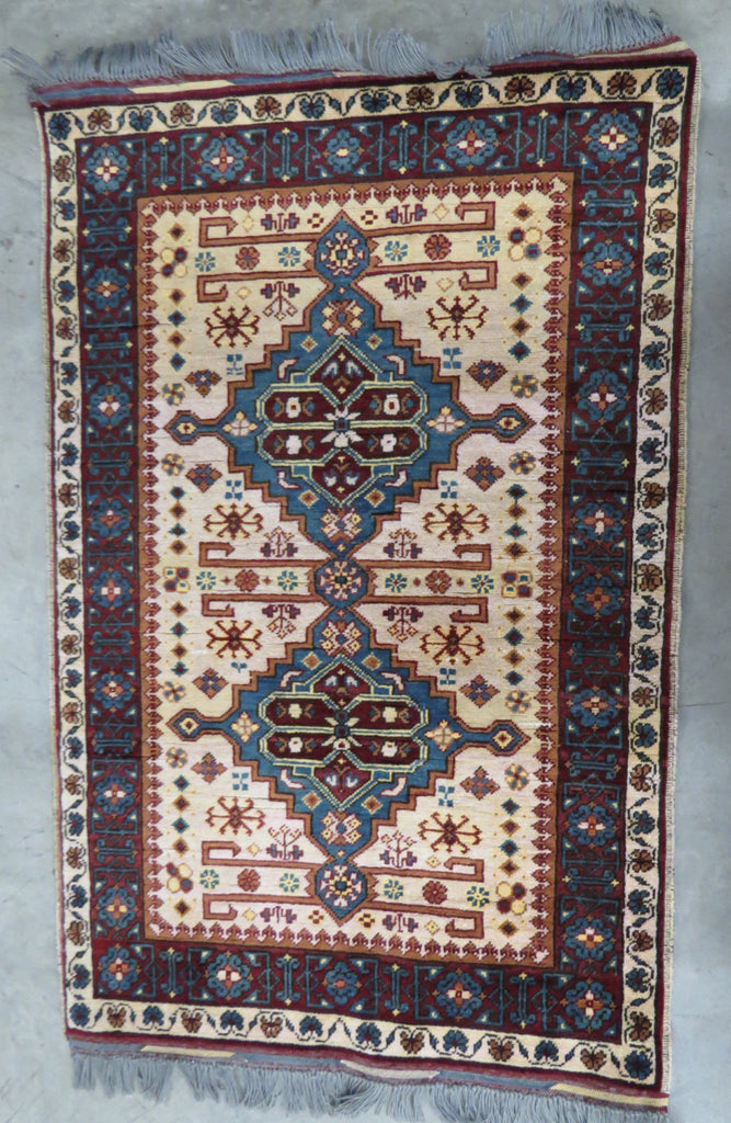 Fair Trade Afghan Kazakh  Rug