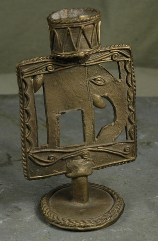 Fair Trade Indian Dhokra Brass Elephant Candlestick