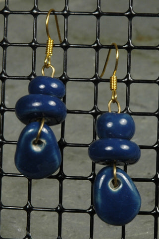 Fair Trade Kenyan Ceramic Bead Earrings