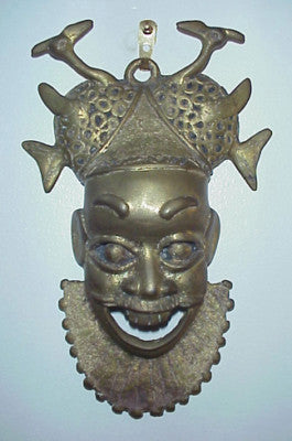 Fair Trade Camerounian Brass Face Mask