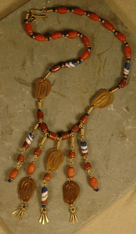 Fair Trade Kenyan Bauxite & Trade Bead Necklace