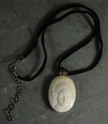 Fair Trade Indonesian Cameo Pendant Necklace