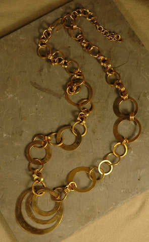 Fair Trade Kenyan Brass Necklace