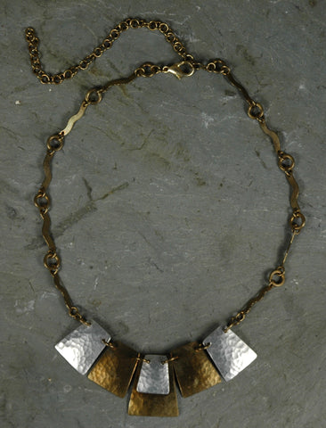 Fair Trade Kenyan Brass & Aluminum Necklace