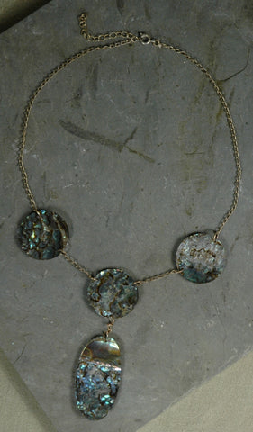 Fair Trade Mexican Abalone Pendant Necklace