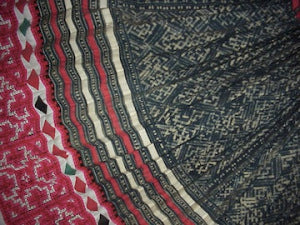 Close-up detail of Blue Hmong Skirt