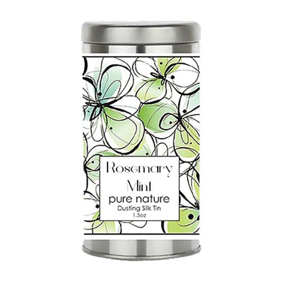 Rosemary Mint Dusting Silk in Travel Tin