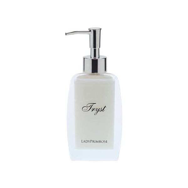 Tryst Body Velvet in Lucite Pump Decanter