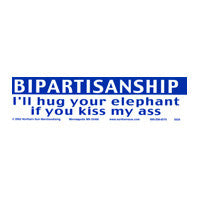 Bipartisanship Bumper Sticker