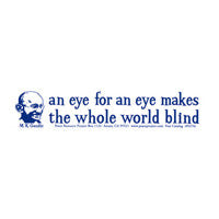 An eye for an eye Bumper Sticker