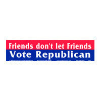 Friends don't let friends Bumper Sticker