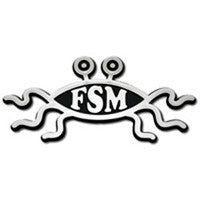 Flying Spaghetti Monster Car Plaque