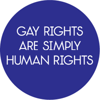 Gay rights are simply human rights Button