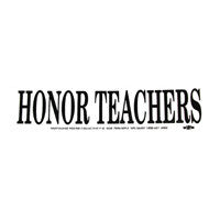 Honor Teachers Bumper Sticker