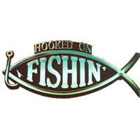 Hooked on Fishing Plaque