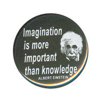 Imagination is more important Button