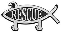 Rescue Dog Car Emblem Plaque