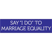 Say I do to marriage equality Bumper Sticker