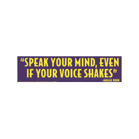 Speak your mind Bumper Sticker