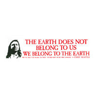 The Earth does not belong to us Bumper Sticker