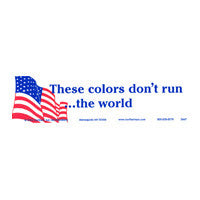 These colors don't run the world Bumper Sticker