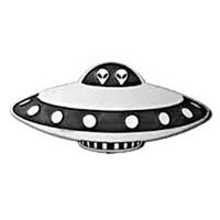 UFO Spaceship Car Plaque