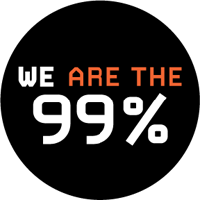 We are the 99% Button