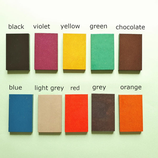 Wood Art Shop Colour Palette: black, violet, yellow, green, chocolate, blue, light grey, red, grey, orange, purple, brown