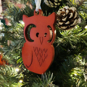 Christmas Tree Decoration, Wood Christmas Decorations, Bauble, Owl Christmas Tree