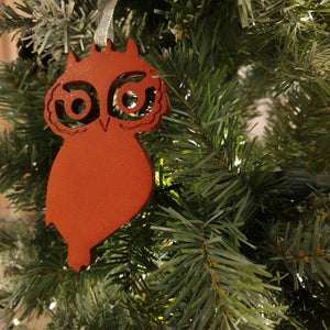 Festive Owls, Festive Ornament, Christmas Decor, Window decor, Owl Christmas