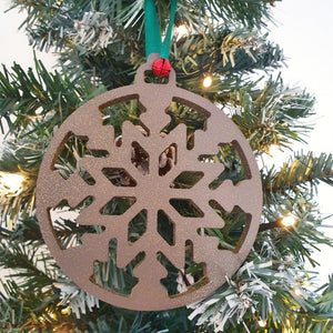 Hanging Christmas Snowflake, Wood Christmas Ornaments, Snowflake