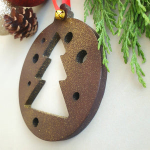 Hanging Christmas Tree, Xmas Tree, Wood Christmas Ornaments, Family Christmas Tree Decorations