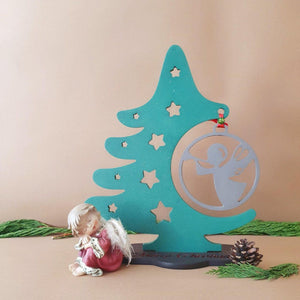 Wood Christmas Tree, Christmas Ornament Display Stand, Wooden Angel Christmas Tree