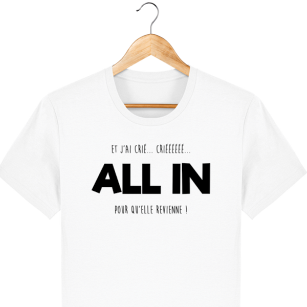 T-SHIRT POKERPLAYER ET J'AI CRIÉ ALL IN