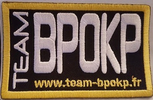 ECUSSON BRODÉ TEAM BPOKP : DISPONIBLE