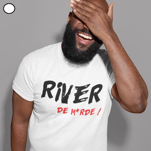 T-SHIRT POKERPLAYER RIVER DE MERDE HOMME