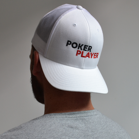 CASQUETTE POKERPLAYER BRODÉE BLANCHE