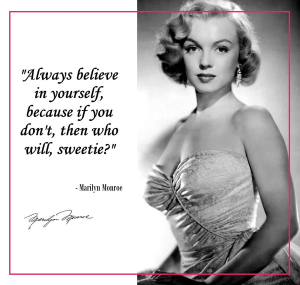 Marilyn Monroe quote about self confidence