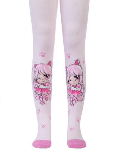 Baby tights with pattern ANIME - pink