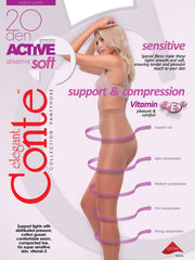 Support & Compression tights ACTIVE Soft 20 den