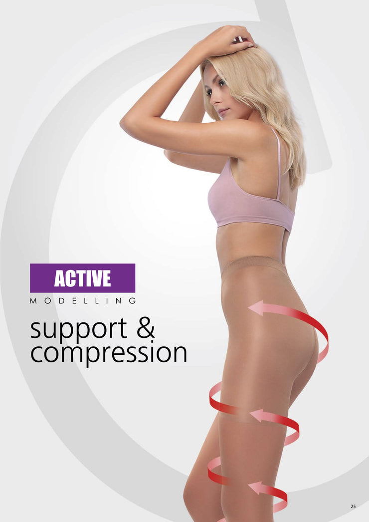 Compression support hose tights pantyhose Conte Active with compression support top and vitamin E for sensitive skin. No more itchy skin irritation!