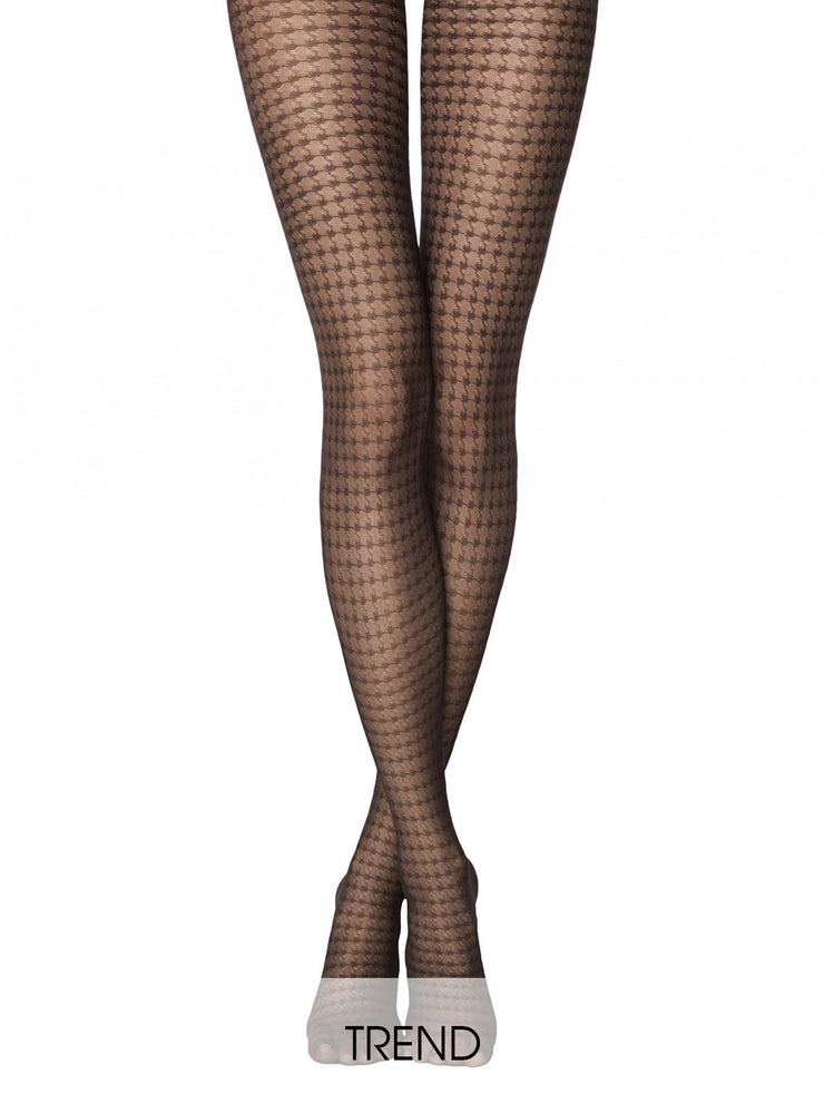 Black classic houndstooth tights Conte ENCORE 30 den