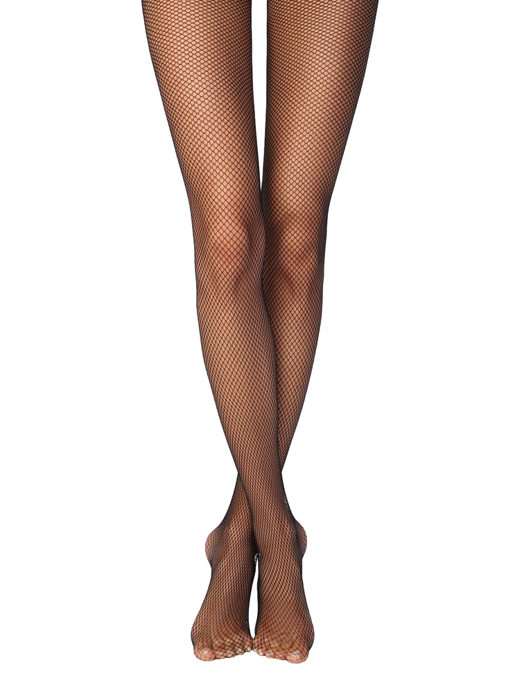 Black Fishnet tights pantyhose Conte Rette micro